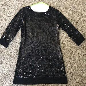 Black Sequin jersey dress